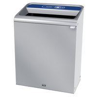 Rubbermaid 1961706 Configure 45 Gallon Stainless Steel 1 Stream Paper Indoor Recycling Container