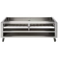 Wolf SMOKER-VCCB72 72 inch Wood Assist Stand with Two Wood Trays