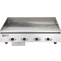 Wolf WEG48E-208/1 48 inch Heavy-Duty Electric Countertop Griddle with Thermostatic Controls - 208V, 1 Phase, 21.6 kW