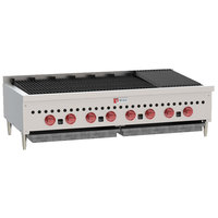 Wolf SCB47-LP Liquid Propane Low Profile 47 inch Radiant Gas Charbroiler - 116,000 BTU