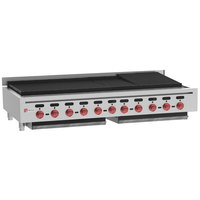 Wolf ACB60-LP Liquid Propane Low Profile 60 inch Heavy-Duty Radiant Gas Countertop Charbroiler - 176,000 BTU