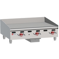 Wolf AGM36-NAT Natural Gas 36 inch Heavy-Duty Gas Countertop Griddle with Manual Controls - 81,000 BTU