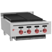 Wolf ACB25-LP Liquid Propane Low Profile 25 inch Heavy-Duty Radiant Gas Countertop Charbroiler - 64,000 BTU