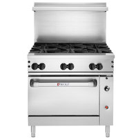 Wolf C36C-6BN Challenger XL Series Natural Gas 36 inch Manual Range with 6 Burners and Convection Oven - 215,000 BTU