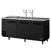 Turbo Air TCB-4SB Black 90 inch Club Top Beer Dispenser - 4 Kegs