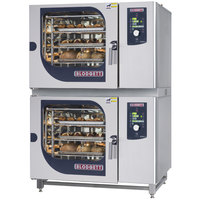 Blodgett BLCM-62-62G Liquid Propane Double Boilerless Combi Oven with Dial Controls - 81,800 / 81,800 BTU