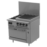 Wolf C36S-2B24CBN Challenger XL Series Natural Gas 36 inch Range with 2 Burners, 24 inch Charbroiler, and Standard Oven - 159,000 BTU