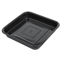 Genpak 55388 Bake 'N Show Dual Ovenable 8 inch x 8 inch x 1 1/4 inch Square Brownie / Cake Pan - 250/Case