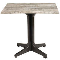 Grosfillex 99530246 24 inch x 32 inch Barn White Outdoor Molded Melamine Table Top