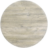 Grosfillex 99831071 30 inch Round White Oak Outdoor Molded Melamine Table Top