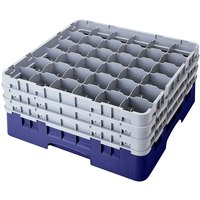 Cambro 36S418186 Navy Blue Camrack 36 Compartment 4 1/2 inch Glass Rack