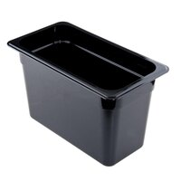 Cambro 46CW110 Camwear 1/4 Size Black Food Pan - 6 inch Deep