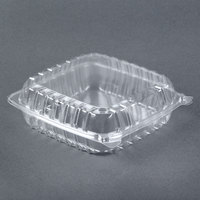 Dart Solo C95PST1 9 inch x 9 1/2 inch x 3 inch ClearSeal Clear Hinged Lid Plastic Container - 100 / Pack