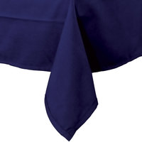 72 inch x 120 inch Navy Blue 100% Polyester Hemmed Cloth Table Cover