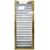 Styleline CL3072-NT Classic Plus 30 inch x 72 inch Walk-In Cooler Merchandiser Door with Shelving - Anodized Bright Gold, Right Hinge