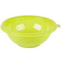 Fineline 5032-GRN Super Bowl 32 oz. Green PET Plastic Salad Bowl - 100/Case