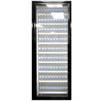 Styleline CL3072-NT Classic Plus 30 inch x 72 inch Walk-In Cooler Merchandiser Door with Shelving - Satin Black, Left Hinge