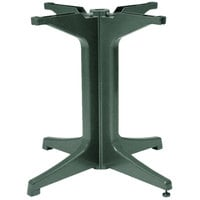 Grosfillex US624278 2000 Amazon Green Resin Pedestal Outdoor Table Base