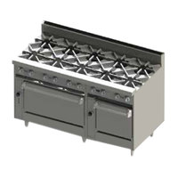 Blodgett BR-10-2436-LP Liquid Propane 10 Burner 60 inch Range with Double Oven Base - 360,000 BTU