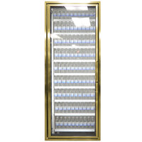 Styleline CL3072-NT Classic Plus 30 inch x 72 inch Walk-In Cooler Merchandiser Door with Shelving - Anodized Bright Gold, Left Hinge