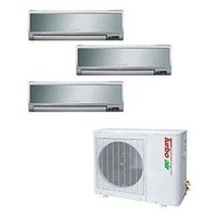 Turbo Air 33,000 BTU Ductless Wall Mounted Multi-Zone Air Conditioner / Heat Pump with Three Indoor Evaporators