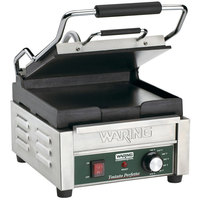 Waring WFG150 9 3/4 inch x 9 1/4 inch Tostato Perfetto Smooth Top & Bottom Panini Sandwich Grill 120V
