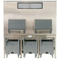 Follett ITS3250SG-90 ITS Series 90 inch Ice Storage and Transport System with 3 Transport Carts - 3255 lb.