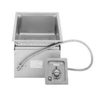 Wells MOD127TD 1 Well 4/3 Size Drop-In Hot Food Well with Drain - Thermostatic Control