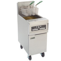 Frymaster PMJ145-2 Natural Gas Split Pot Floor Fryer 50 lb. - 127,000 BTU