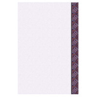 8 1/2 inch x 14 inch Menu Paper Right Insert - Purple Woven Border - 100/Pack