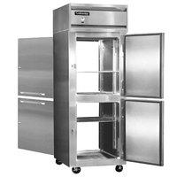 Continental Refrigerator 1FX-SS-PT-HD 36 1/4 inch Half Door Extra Wide Pass-Through Freezer - 30 Cu. Ft.