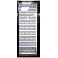 Styleline CL2472-2020 20//20 Plus 24 inch x 72 inch Walk-In Cooler Merchandiser Door with Shelving - Satin Black, Right Hinge
