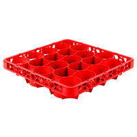 Carlisle REW20LC05 OptiClean NeWave 20 Compartment Red Color-Coded Long Glass Rack Extender