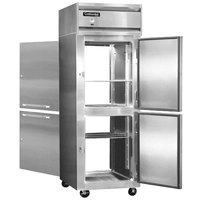 Continental Refrigerator 1RE-SA-PT-HD 29 inch Half Door Extra Wide Pass-Through Refrigerator - 21 Cu. Ft.