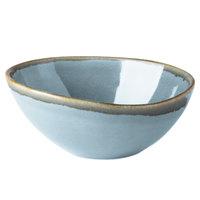 Cardinal Arcoroc FJ353 Terrastone 15 oz. Blue Porcelain Bowl - 24/Case