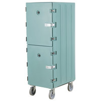 Cambro 1826DTCSP401 Camcart Slate Blue Double Compartment Tray and Sheet Pan Carrier with Security Package