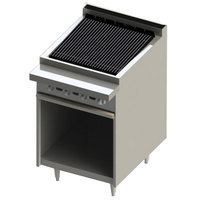 Blodgett BR-24B-NAT Cafe Series Natural Gas 24 inch Radiant Charbroiler with Cabinet Base - 60,000 BTU