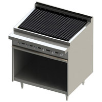 Blodgett BR-36B-NAT Cafe Series Natural Gas 36 inch Radiant Charbroiler with Cabinet Base - 90,000 BTU