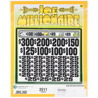 Joe Millionaire 5 Window Pull Tab Tickets - 2511 Tickets Per Deal - Total Payout: $2000