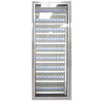Styleline CL2672-2020 20//20 Plus 26 inch x 72 inch Walk-In Cooler Merchandiser Door with Shelving - Anodized Satin Silver, Right Hinge