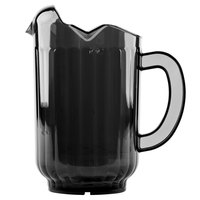 Vollrath 6010-06 Traex Tuffex 60 oz. Black Three-Lip Deluxe Beverage Pitcher