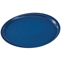 Cambro 1600ET503 EpicTread 16 inch Spanish Blue Round Fiberglass Non-Skid Tray - 12/Pack