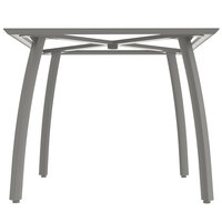 Grosfillex US361289 Sunset 36 inch Square Platinum Gray Table Base