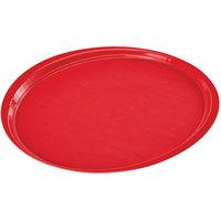 Cambro 1600ET521 EpicTread 16 inch Cambro Red Round Fiberglass Non-Skid Tray - 12/Pack