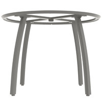 Grosfillex US421289 Sunset 42 inch Round Platinum Gray Table Base