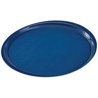 Cambro 1400ET503 EpicTread 14 inch Spanish Blue Round Fiberglass Non-Skid Tray - 12/Pack