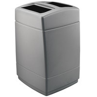 Commercial Zone 732824 PolyTec Series Charcoal 55 Gallon Square Trash Can