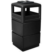 Commercial Zone 73260199 PolyTec Series Black 38 Gallon Three-Tier Trash Can with Ashtray Lid