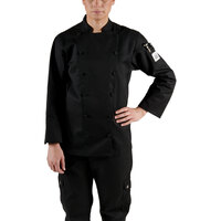 Chef Revival LJ025BK-XS Chef-Tex Size 2 (XS) Black Customizable Ladies Cuisinier Chef Jacket