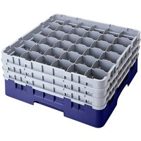Cambro 36S1058186 Navy Blue Camrack 36 Compartment 11 inch Glass Rack